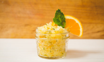 Spearmint Orange Salt Scrub